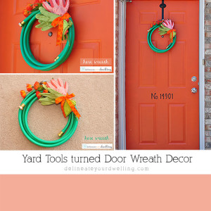 Yard Wreath made from tools, Delineateyourdwelling.com