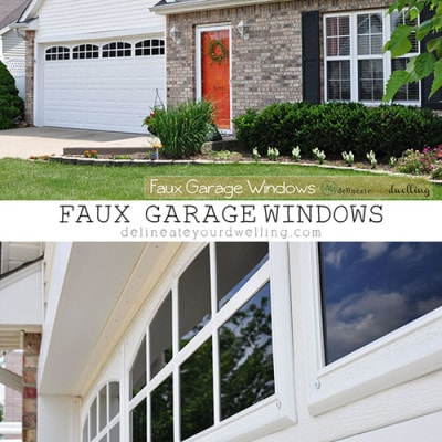 Faux Garage Door Windows, Delineate Your Dwelling