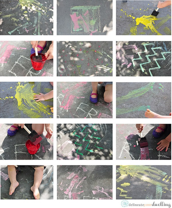 How to make kid friendly Homemade Chalk Paint, Delineate your dwelling