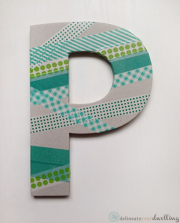 Easy Washi Tape Letter P supplies.JPG
