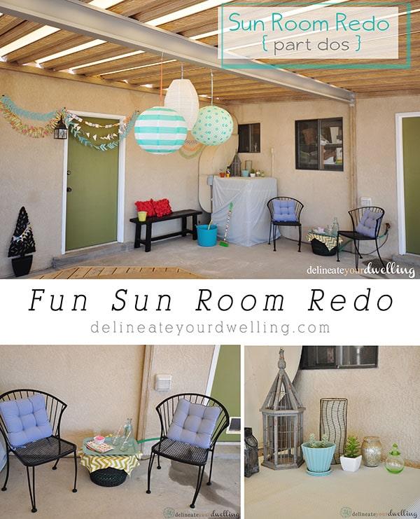 Fun Sun Room Redo, Delineateyourdwelling.com