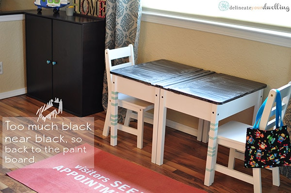 Dark Chalkboard Desk