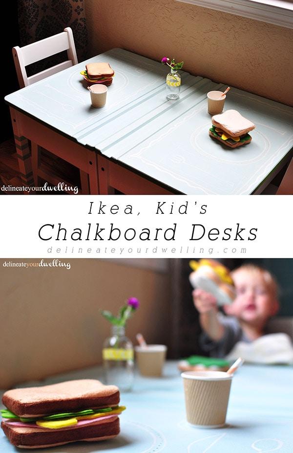 IKEA Kid's Chalkboard Desk, Delineateyourdwelling.com