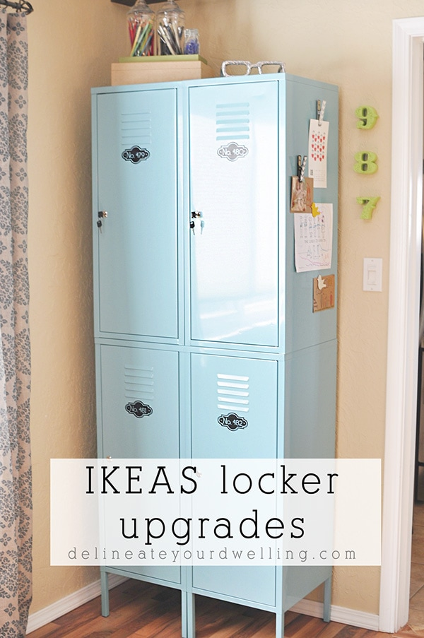 Ikea Locker upgrades and organization, Delineate Your Dwelling