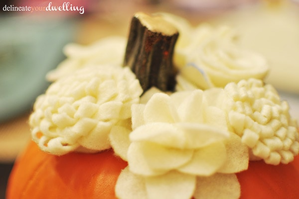 Felt Pumpkin, Delineate Your Dwelling #fall #autumn #decor