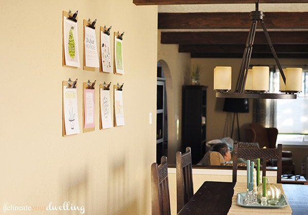 Clipboard Gallery Wall Room, Delineateyourdwelling.com