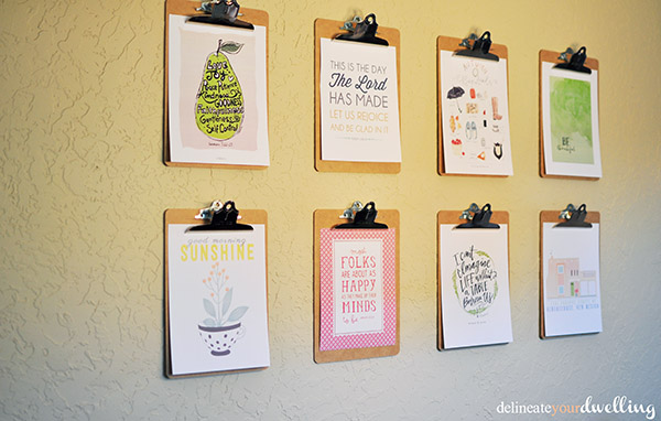 Clipboard Gallery Wall final, Delineateyourdwelling.com