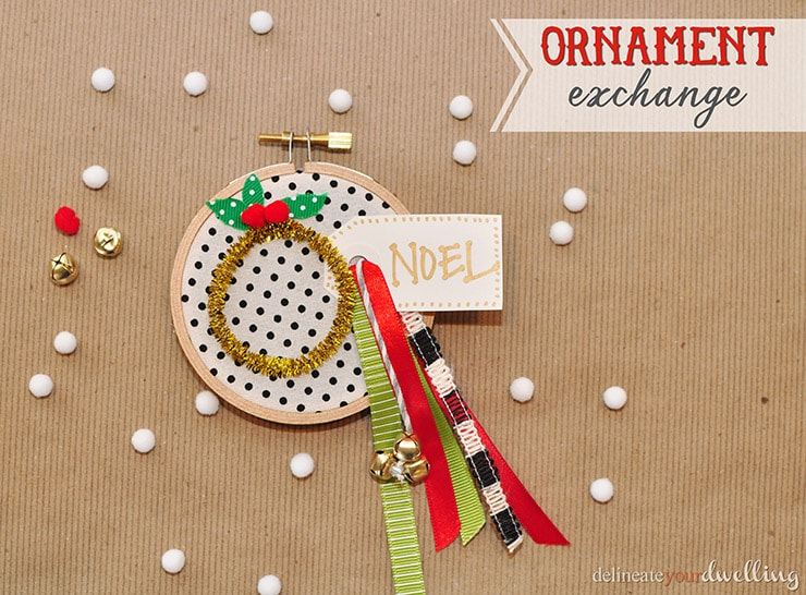 Embroidery Hoop Ornament, Delineate Your Dwelling
