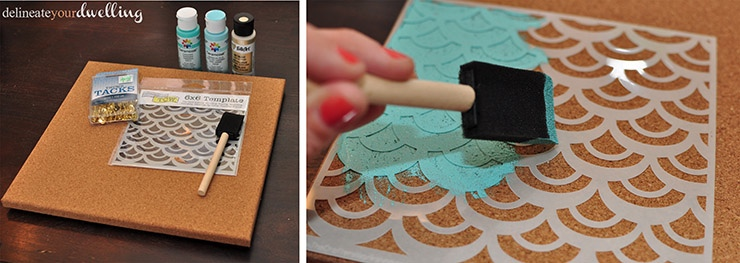 Message Center stencil, Delineateyourdwelling.com