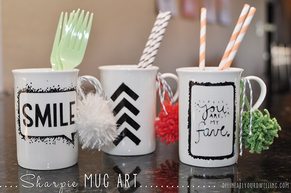 Sharpie Mug Art, Delineateyourdwelling.com