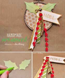 Handmade NOEL Ornament, Delineateyourdwelling.com