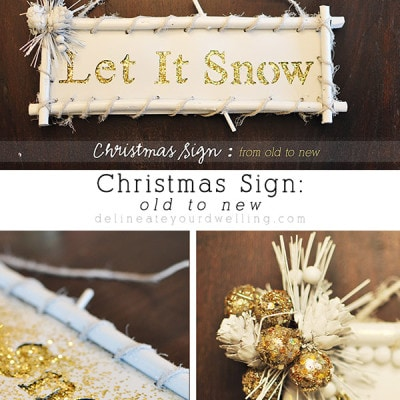 Christmas Sign, Delineateyourdwelling.com