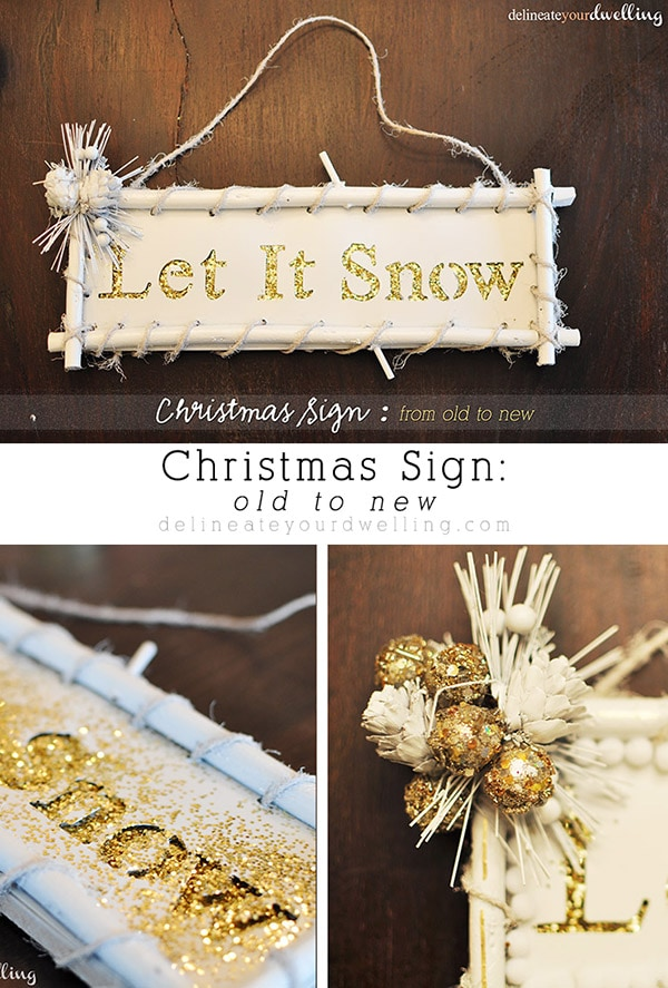 Christmas Sign, Delineateyourdwelling.com