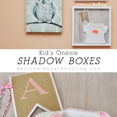 Kid's Onesie Shadow Box, Delineateyourdwelling.com