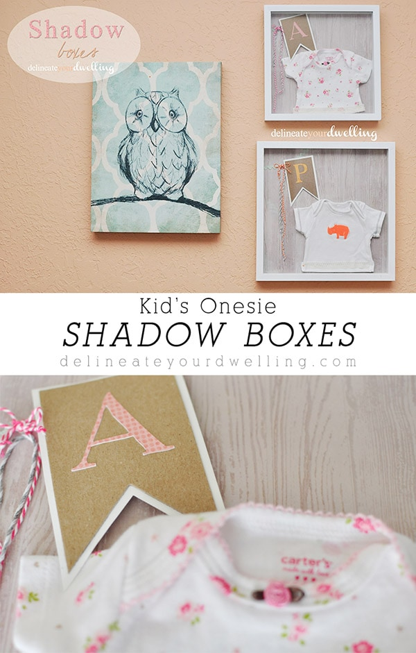 Kid's Onesie Shadow Box, Delineateyourdwelling.com