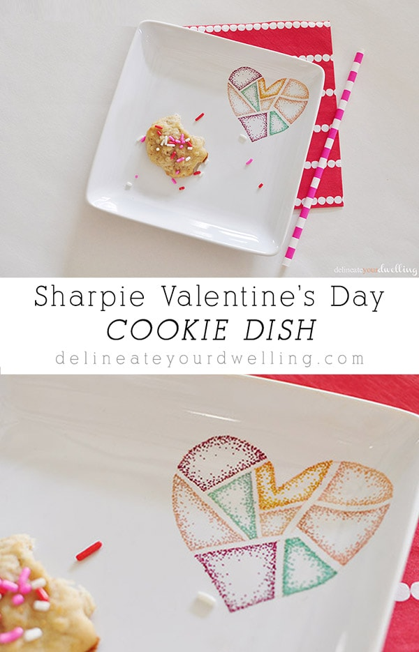 Sharpie Valentines Candy Dish, Delineateyourdwelling.com