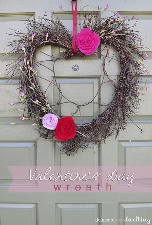 Simple grapevine Valentines Day wreath! Delineate Your Dwelling