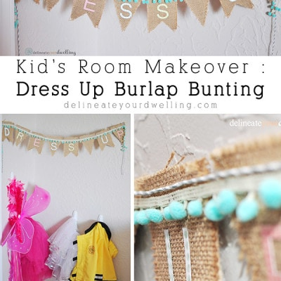 Dress Up Burlap Banner, Delineateyourdwelling.com
