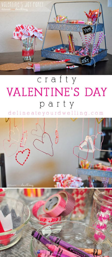 Crafty Valentine's Day Party, Delineateyourdwelling.com