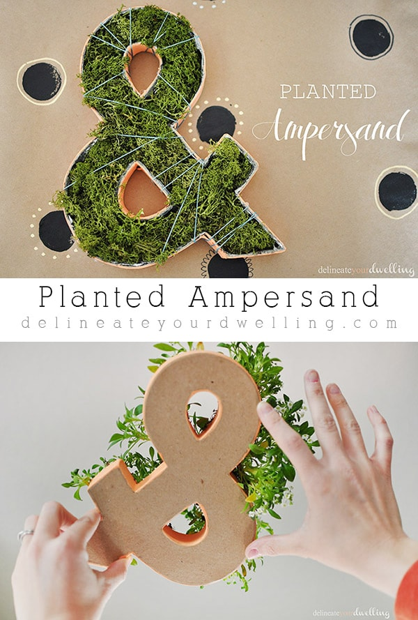 Creative and Easy to make!  A Planted Ampersand decor item! | @Delineateyourdwelling