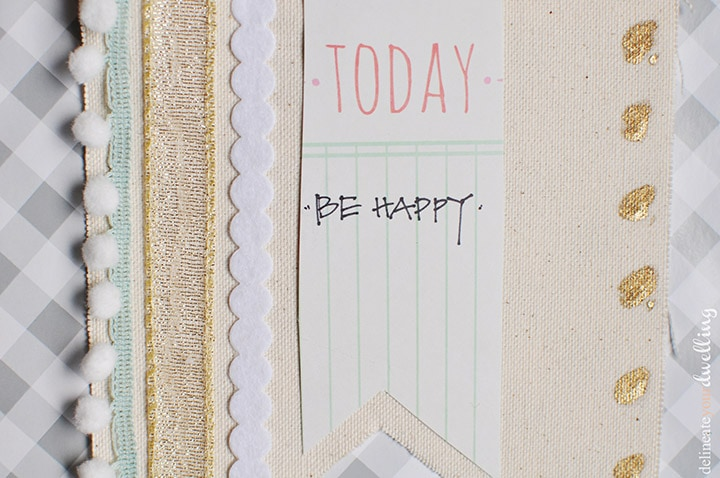 Today Be Happy Banner - Delineate Your Dwelling