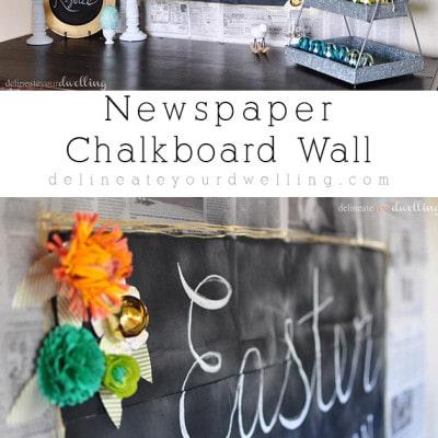 Newspaper Chalkboard wall, delineateyourdwelling.com