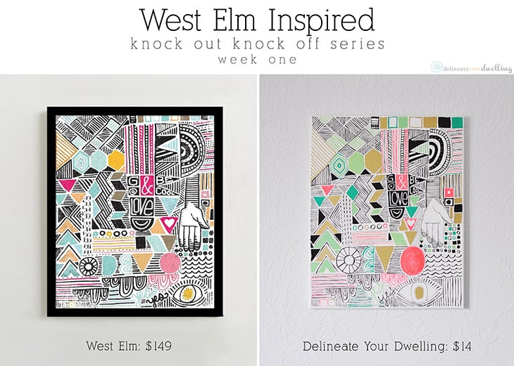 West Elm Inspired knock off, Geo Print : Delineate Your Dwelling #westelm #knockoff
