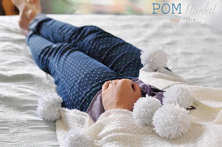 Pom Pom Throw Blanket, Delineate Your Dwelling #blanket #pompoms