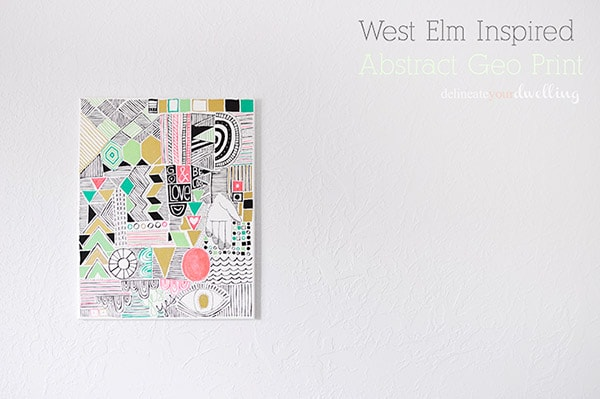 DIY Inspired West Elm Painting