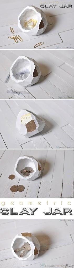 Geometric Clay Jar, Delineate Your Dwelling #geometric #clay jar #pot