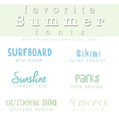 1 Favorite Summer Fonts
