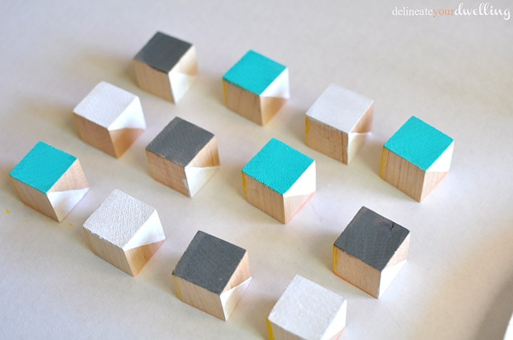 Painted Geometric Blocks, Delineate Your Dwelling
