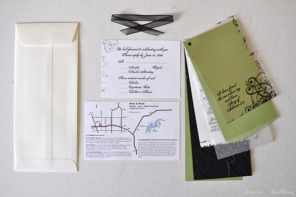 DIY Wedding Invitations on a budget, Delineate Your Dwelling #invite #paper