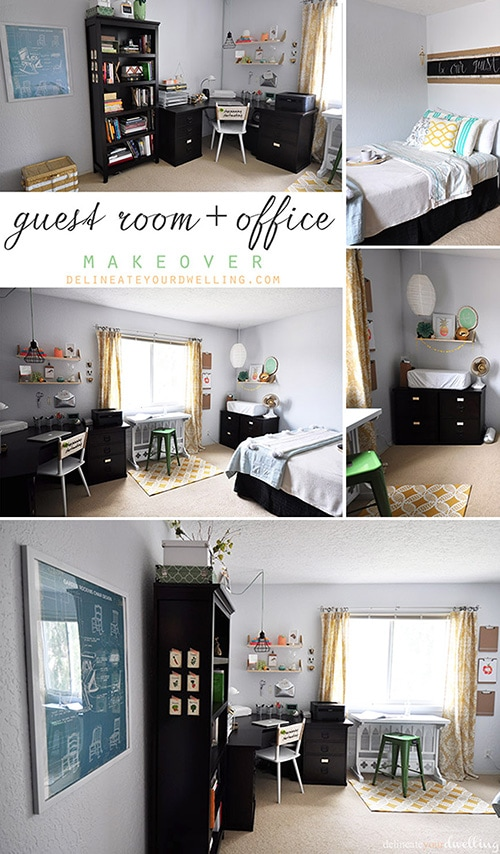 Guest room + office makeover, Delineateyourdwelling.com