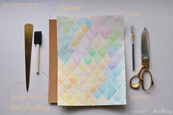 watercolor notebook supplies | delineateyourdwelling.com