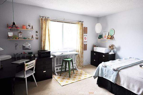 Guest Room + Office Makeover Reveal, Overview | Delineate Your Dwelling  #roomupdate #whiteoffice