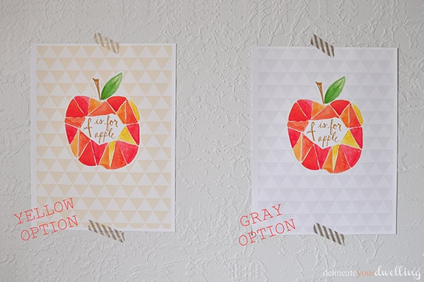 A is for Apple Watercolor free Printable, Delineate Your Dwelling