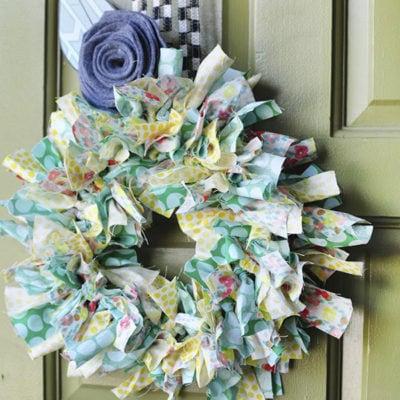 Summer Fabric Wreath-1
