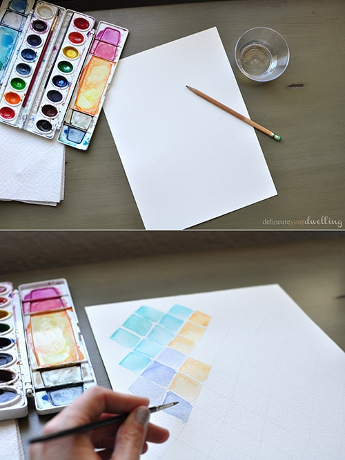 Watercolor notebook supplies| delineateyourdwelling.com