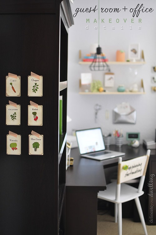 Guest Room + Office Makeover, Desk Details, Delineate Your Dwelling