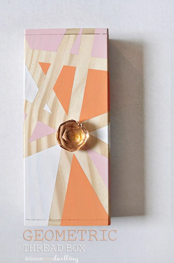 Easy DIY Geometric Thread Box, Delineate Your Dwelling