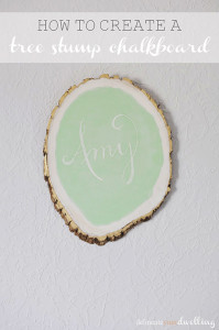 Tree Stump Chalkboard - Delineate Your Dwelling #officeupdates