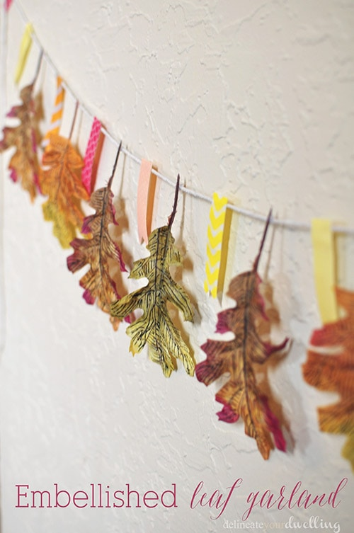 Embellished Leaf Garland, Delineate Your Dwelling