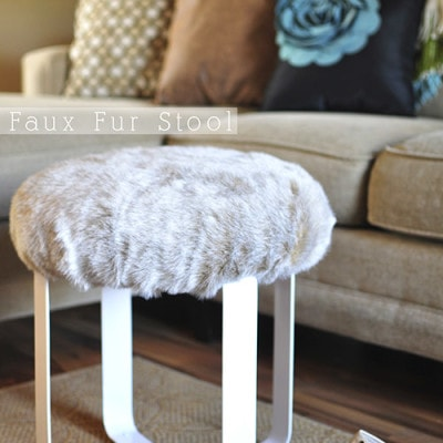 Faux Fur Stool, Delineate Your Dwelling