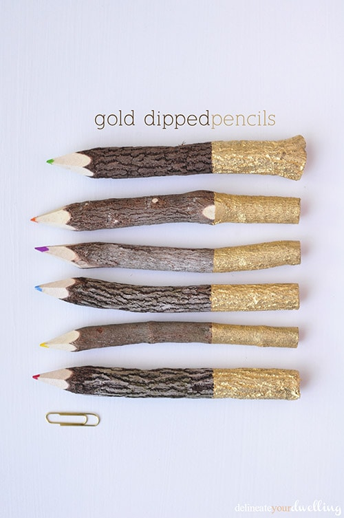 Gold Dipped Pencils, Delineate Your Dwelling