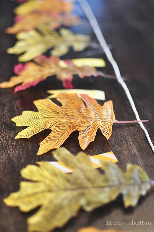 Leaf Garland setup, Delineate Your Dwelling