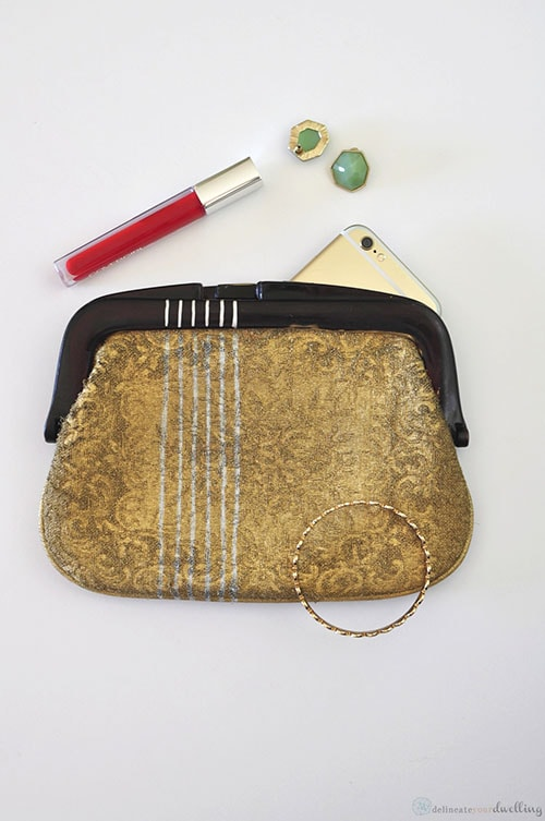 Painted Fabric Clutch2, Delineate Your Dwelling