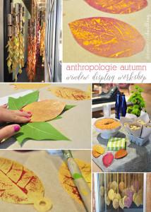 fall anthropologie window