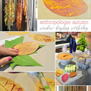 fall anthropologie window
