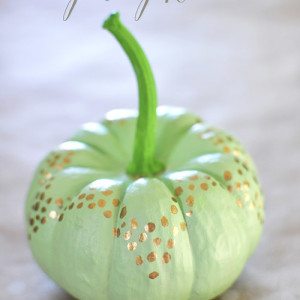 Mint Green + Gold Pumpkin, Delineate Your Dwelling